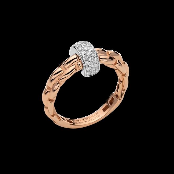 Ring Fope Eka aus 750 Roségold und 750 Weißgold mit mehreren Brillanten (0,22 Karat)