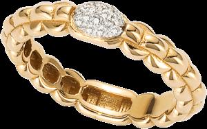 Ring Fope Eka aus 750 Gelbgold mit mehreren Brillanten (0,1 Karat)