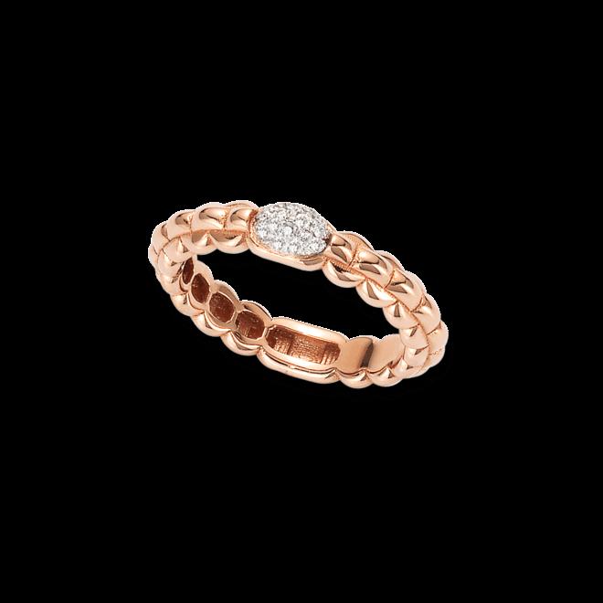Ring Fope Eka aus 750 Roségold mit mehreren Brillanten (0,1 Karat)