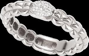 Ring Fope Eka aus 750 Weißgold mit 1 Brillant (0,1 Karat)