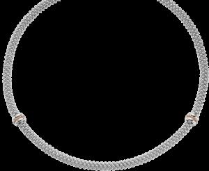 Halskette Fope Fizzy aus 925 Sterlingsilber und 750 Roségold