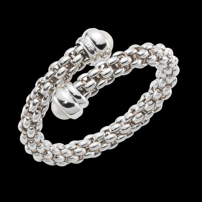 Armreif Fope Fopetwin Star aus 925 Sterlingsilber und 925 Silber vergoldet mit 2 Süßwasser-Perlen