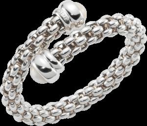 Armreif Fope Fopetwin Star aus 925 Sterlingsilber und 925 vergoldetes Silber mit 2 Süßwasser-Perlen