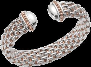 Armreif Fope Naos aus 925 Sterlingsilber und 750 Roségold