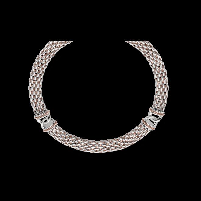 Halskette Fope Naos aus 925 Sterlingsilber und 750 Roségold