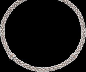 Halskette Fope Star aus 925 Sterlingsilber und 750 Roségold