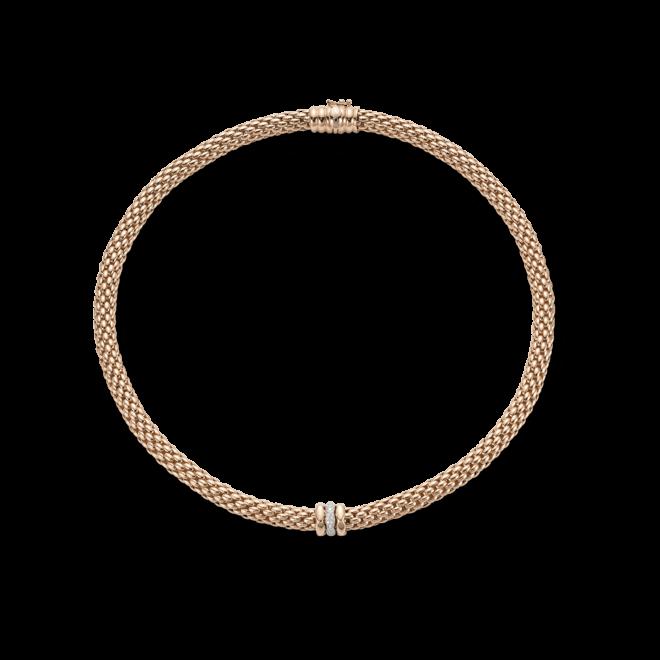 Halskette Fope Flex'it Love Nest aus 750 Roségold mit mehreren Brillanten (0,19 Karat)