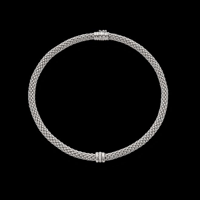 Halskette Fope Flex'it Love Nest aus 750 Weißgold mit mehreren Brillanten (0,19 Karat)