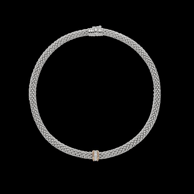 Halskette Fope Flex'it Love Nest aus 750 Weißgold und 750 Roségold mit mehreren Brillanten (0,33 Karat) bei Brogle