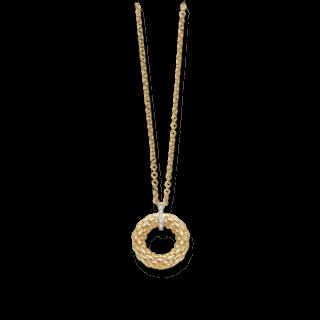 Fope Halskette mit Anhänger Lovely Daisy Gelbgold 22C-BBR-450_GG