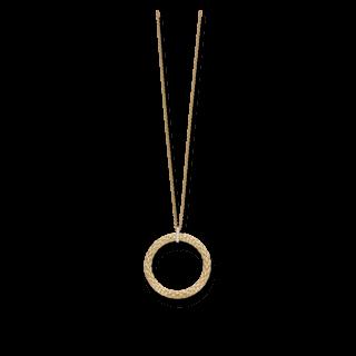 Fope Halskette mit Anhänger Lovely Daisy Gelbgold 24C-BBR-600_GG