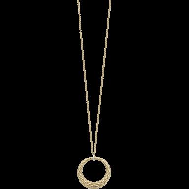 Fope Halskette mit Anhänger Lovely Daisy Gelbgold 25C-600_GG