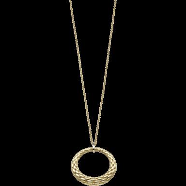 Fope Halskette mit Anhänger Lovely Daisy Gelbgold 26C-600_GG