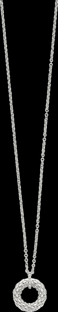 Halskette mit Anhänger Fope Lovely Daisy aus 750 Weißgold mit mehreren Brillanten (0,04 Karat)