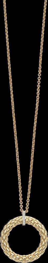 Halskette mit Anhänger Fope Lovely Daisy aus 750 Gelbgold und Weißgold mit mehreren Brillanten (0,04 Karat)