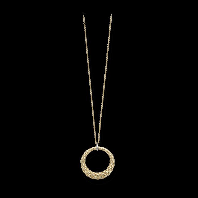 Halskette mit Anhänger Fope Lovely Daisy aus 750 Gelbgold