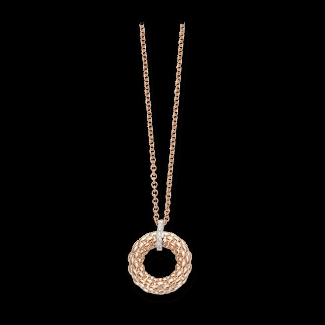 Halskette mit Anhänger Fope Lovely Daisy Roségold aus 750 Roségold mit mehreren Brillanten (0,04 Karat)