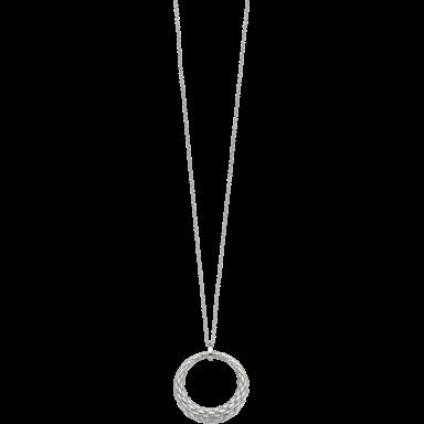 Fope Halskette mit Anhänger Lovely Daisy Weißgold 25C-600_WG