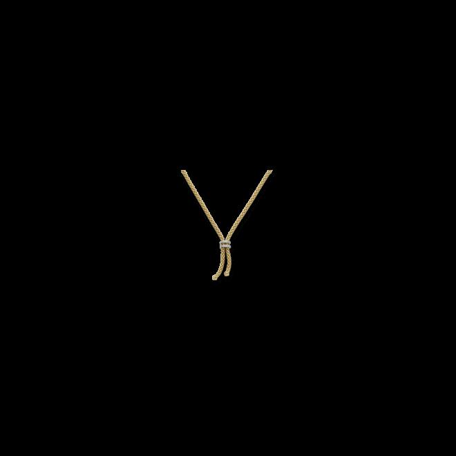 Halskette mit Anhänger Fope Gelbgold aus 750 Gelbgold mit mehreren Brillanten (0,09 Karat)