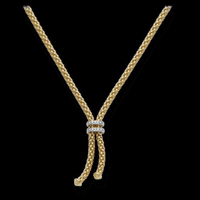 Halskette mit Anhänger Fope Maori aus 750 Gelbgold mit mehreren Brillanten (0,09 Karat)