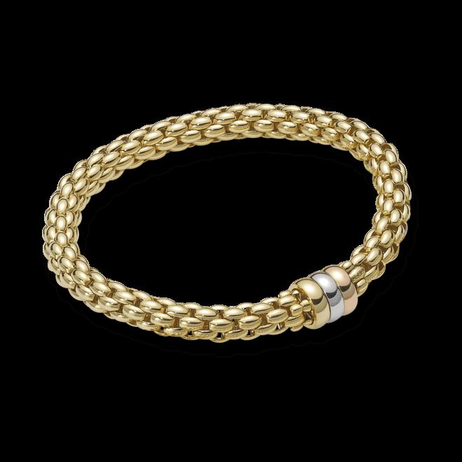 Armband Fope Flex'it Niue aus 750 Gelbgold, 750 Weißgold und 750 Roségold Größe L