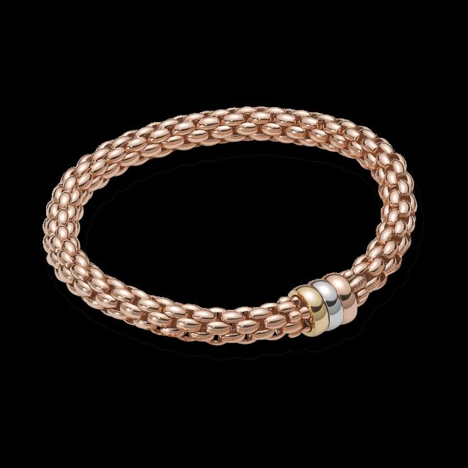 Armband Fope Flex'it Niue aus 750 Roségold, 750 Gelbgold und 750 Weißgold Größe M