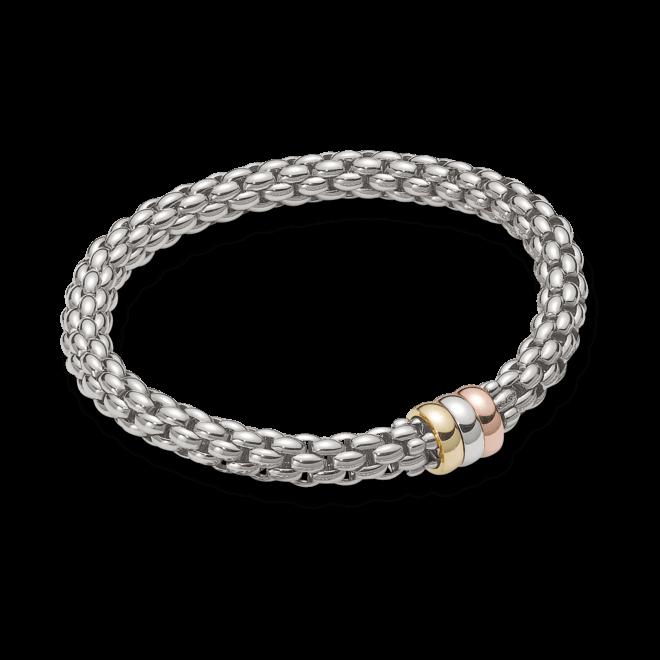 Armband Fope Flex'it Niue aus 750 Weißgold, 750 Gelbgold und 750 Roségold Größe M