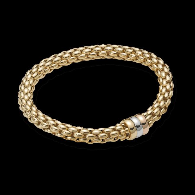 Armband Fope Flex'it Niue aus 750 Gelbgold, 750 Weißgold und 750 Roségold Größe S