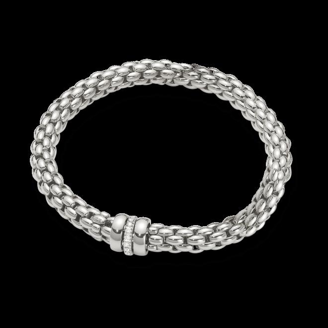 Armband Fope Flex'it Niue aus 750 Weißgold mit mehreren Brillanten (0,19 Karat) Größe S