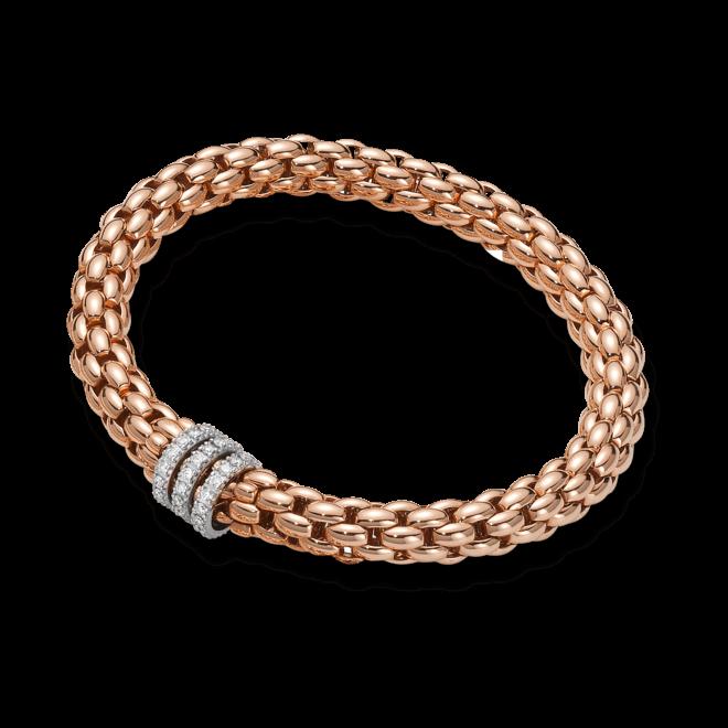 Armband Fope Flex'it Niue aus 750 Roségold und 750 Weißgold mit mehreren Brillanten (0,58 Karat) Größe L