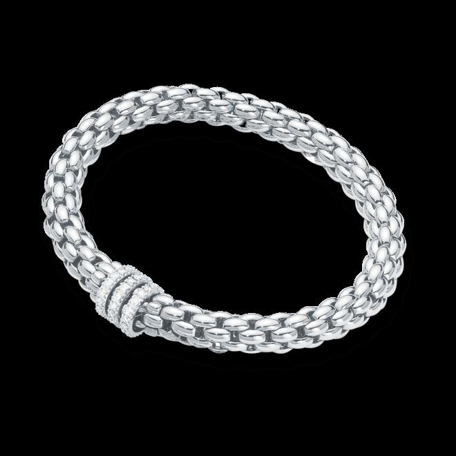 Armband Fope Flex'it Niue aus 750 Weißgold mit mehreren Brillanten (0,58 Karat) Größe L