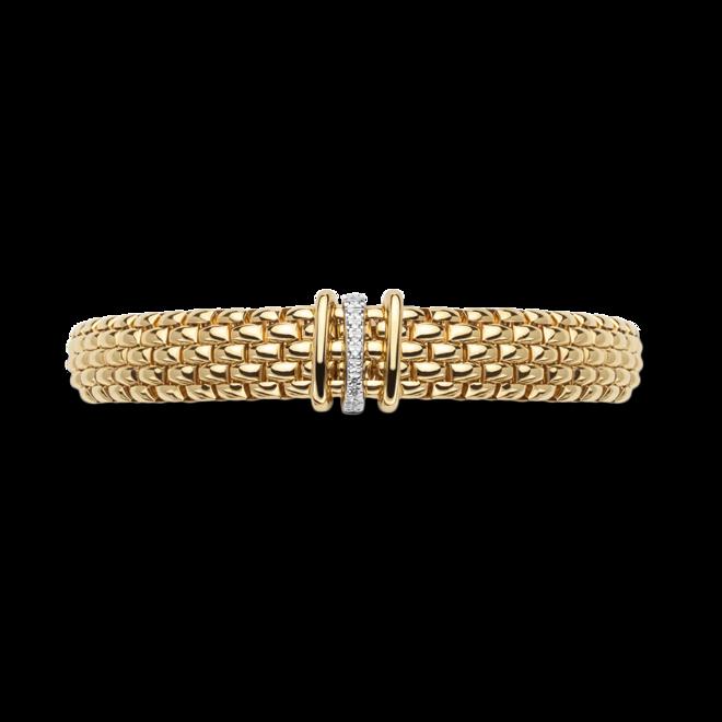Armband Fope Panorama Flex'it aus 750 Gelbgold und 750 Weißgold mit mehreren Brillanten (0,08 Karat) Größe S bei Brogle