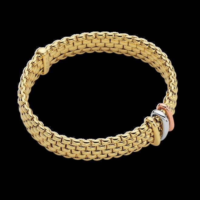 Armband Fope Panorama Flex'it aus 750 Gelbgold, 750 Weißgold und 750 Roségold Größe S