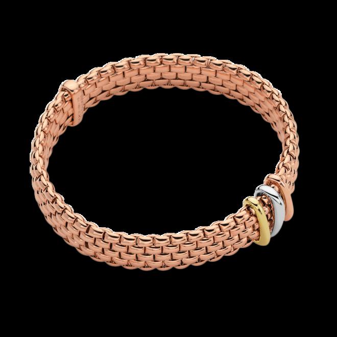 Armband Fope Panorama Flex'it aus 750 Roségold, 750 Weißgold und 750 Gelbgold Größe S