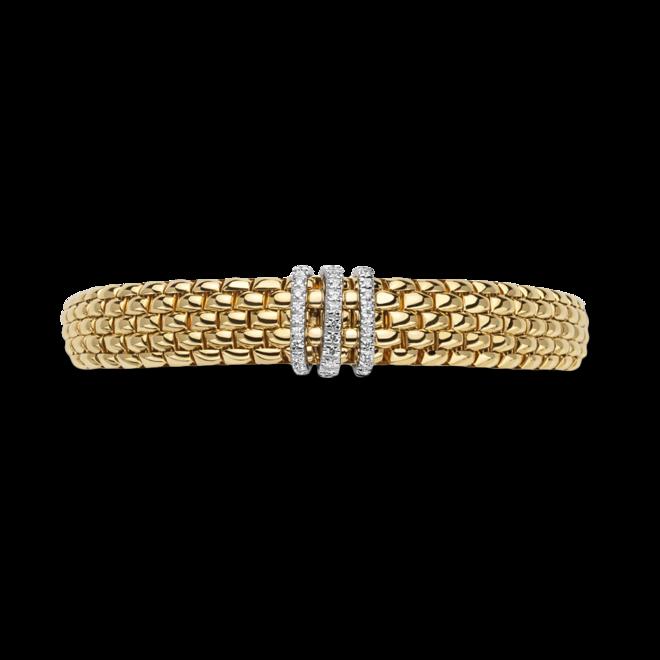 Armband Fope Panorama Flex'it aus 750 Gelbgold und 750 Weißgold mit mehreren Brillanten (0,23 Karat) Größe S bei Brogle