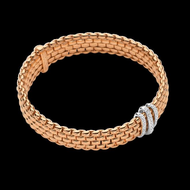 Armband Fope Panorama Flex'it aus 750 Roségold und 750 Weißgold mit mehreren Brillanten (0,23 Karat) Größe S