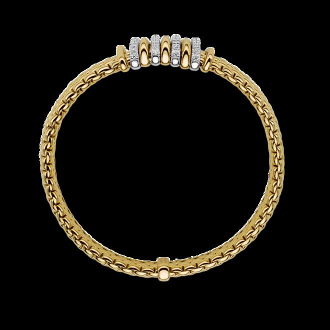 Armband Fope Panorama Flex'it aus 750 Gelbgold und 750 Weißgold mit mehreren Brillanten (0,3 Karat) Größe S bei Brogle