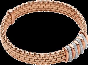 Armband Fope Panorama Flex'it aus 750 Roségold und 750 Weißgold mit mehreren Brillanten (0,3 Karat) Größe S