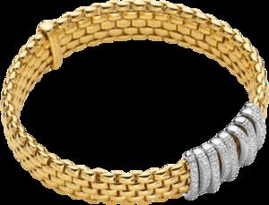 Armband Fope Panorama Flex'it aus 750 Gelbgold und 750 Weißgold mit mehreren Brillanten (0,68 Karat) Größe S