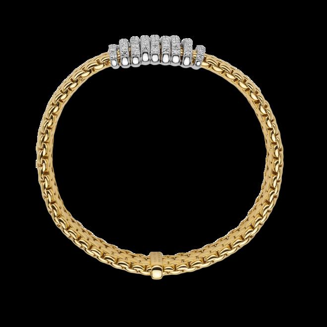 Armband Fope Panorama Flex'it aus 750 Gelbgold und 750 Weißgold mit mehreren Brillanten (0,68 Karat) Größe S bei Brogle