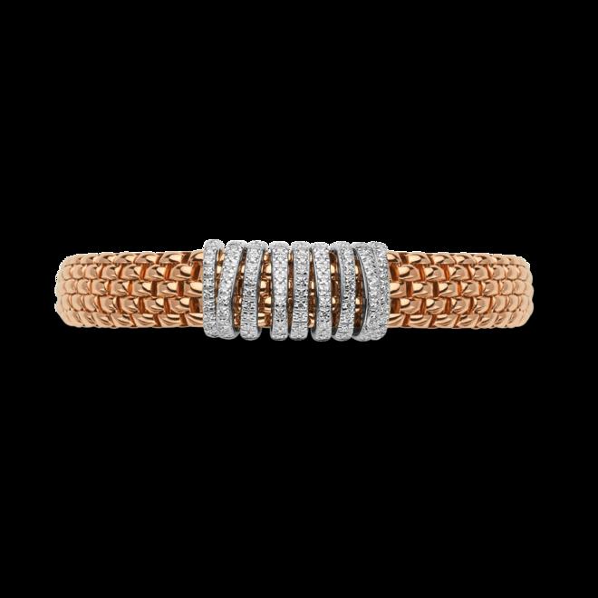 Armband Fope Panorama Flex'it aus 750 Roségold und 750 Weißgold mit mehreren Brillanten (0,68 Karat) Größe S bei Brogle