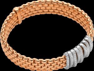 Armband Fope Panorama Flex'it aus 750 Roségold und 750 Weißgold mit mehreren Brillanten (0,68 Karat) Größe S
