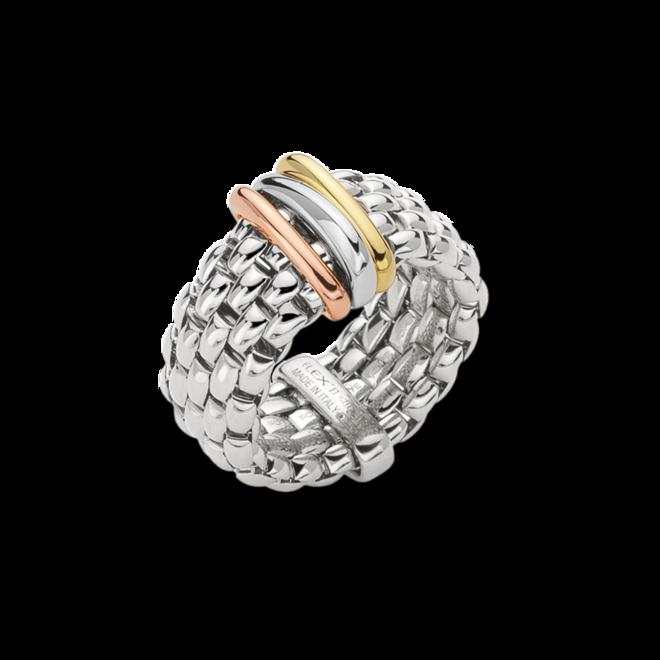 Ring Fope Panorama Flex'it aus 750 Weißgold, 750 Gelbgold und 750 Roségold Größe S (49-53)