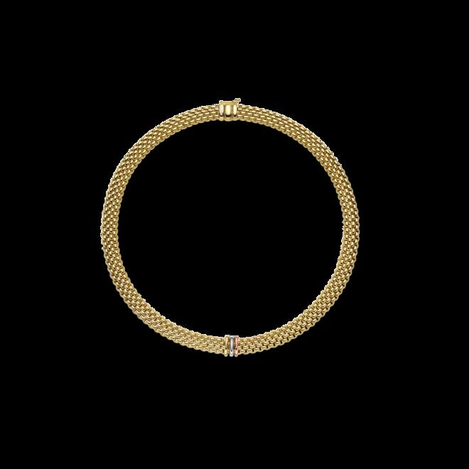 Halskette mit Anhänger Fope Panorama aus 750 Gelbgold, 750 Weißgold und 750 Roségold