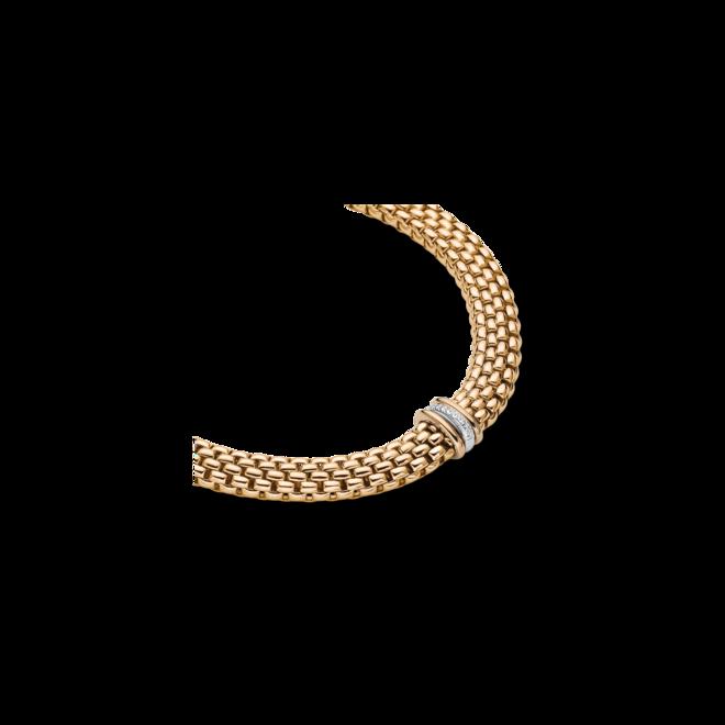 Halskette mit Anhänger Fope Panorama aus 750 Gelbgold und 750 Weißgold mit mehreren Brillanten (0,08 Karat) bei Brogle