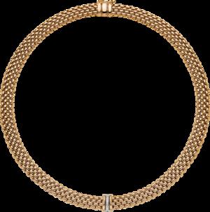 Halskette mit Anhänger Fope Panorama aus 750 Gelbgold und 750 Weißgold mit mehreren Brillanten (0,08 Karat)