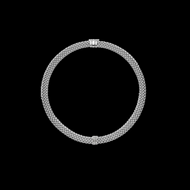 Halskette mit Anhänger Fope Panorama aus 750 Weißgold mit mehreren Brillanten (0,08 Karat)
