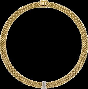 Halskette mit Anhänger Fope Panorama aus 750 Gelbgold und 750 Weißgold mit mehreren Brillanten (0,23 Karat)
