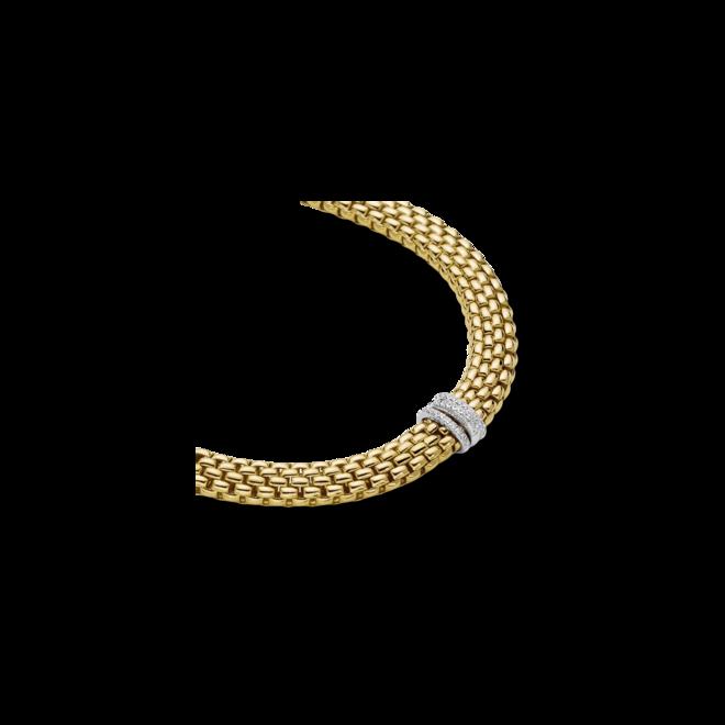 Halskette mit Anhänger Fope Panorama aus 750 Gelbgold und 750 Weißgold mit mehreren Brillanten (0,23 Karat) bei Brogle