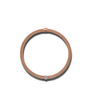 Fope Halskette mit Anhänger Panorama 587C-PAVE-420_RG